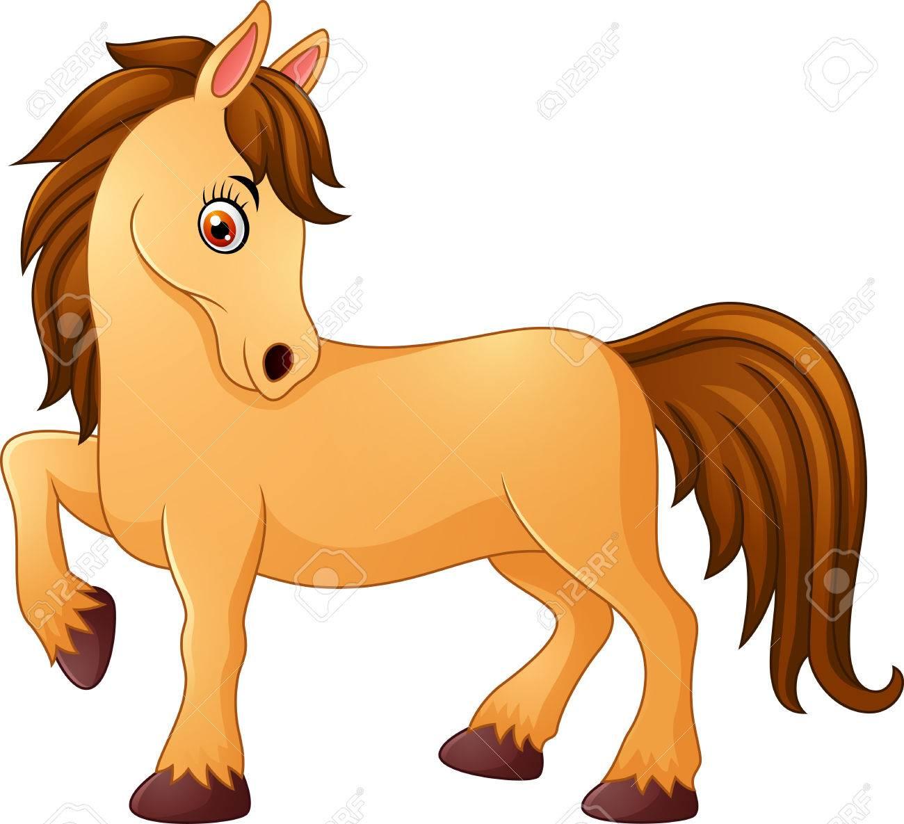 Cute Horse Cartoon Royalty Free Cliparts Vectors And Stock Illustration Image 62046788