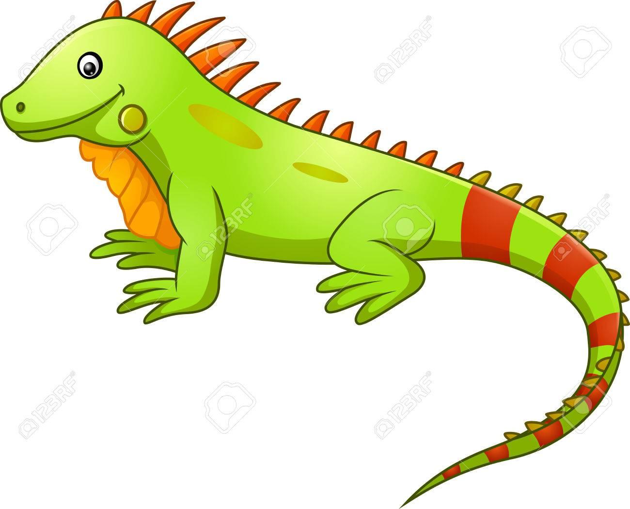 cute iguana cartoon royalty free cliparts vectors and stock rh 123rf com iguana clipart outline iguana clip art free images