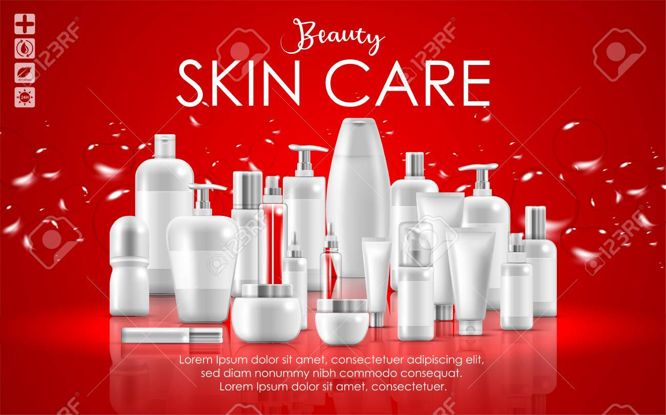 Set Of Skin Care Natural Beauty Product Packaging Banner Royalty Free Cliparts Vectors And Stock Illustration Image 117537915