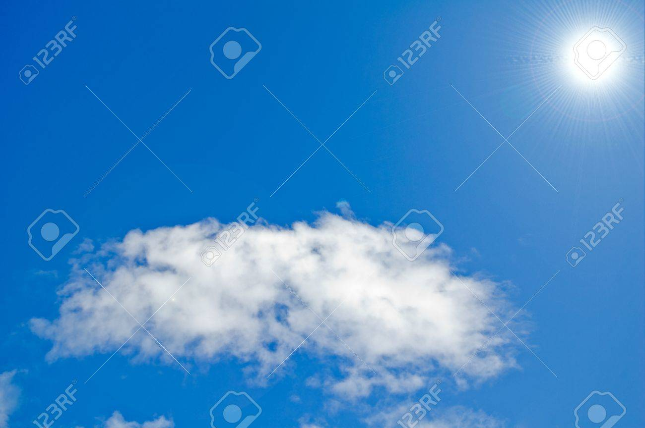 Sky  & the Sun. May be used as background. Stock Photo - 15806275