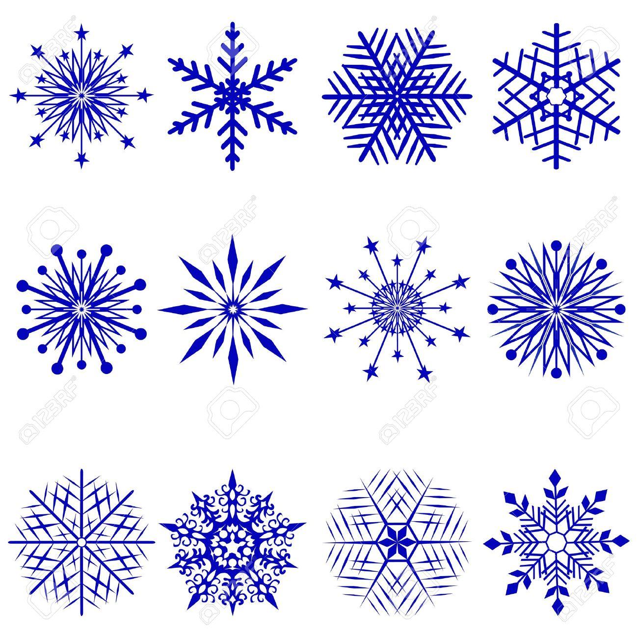 dessin simple de flocon de neige