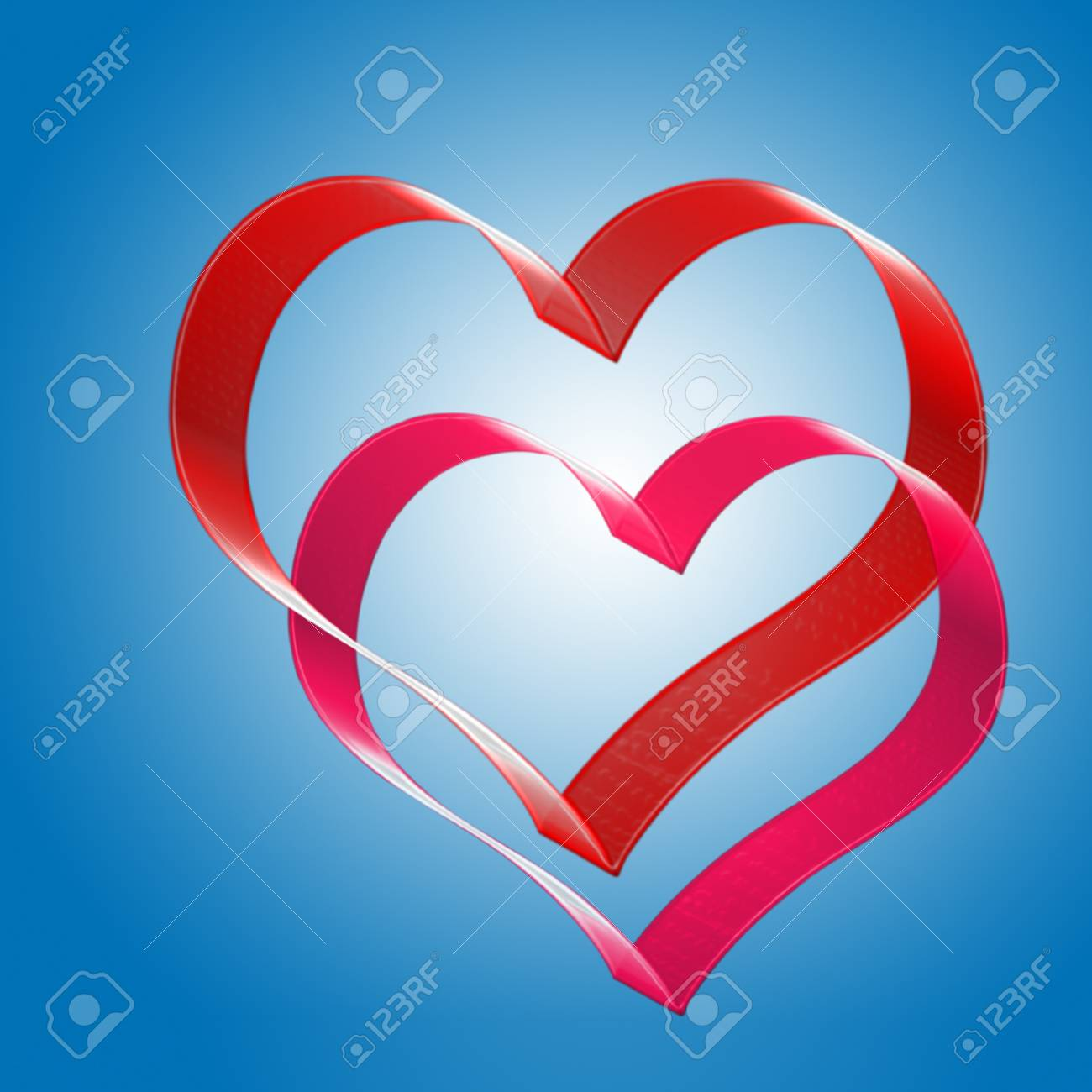 two hearts. the valentine's day. Stock Photo - 17766625