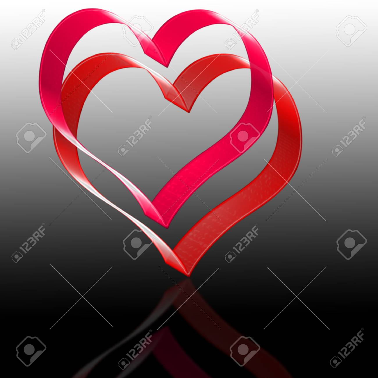 two hearts. the valentine's day. Stock Photo - 17766607