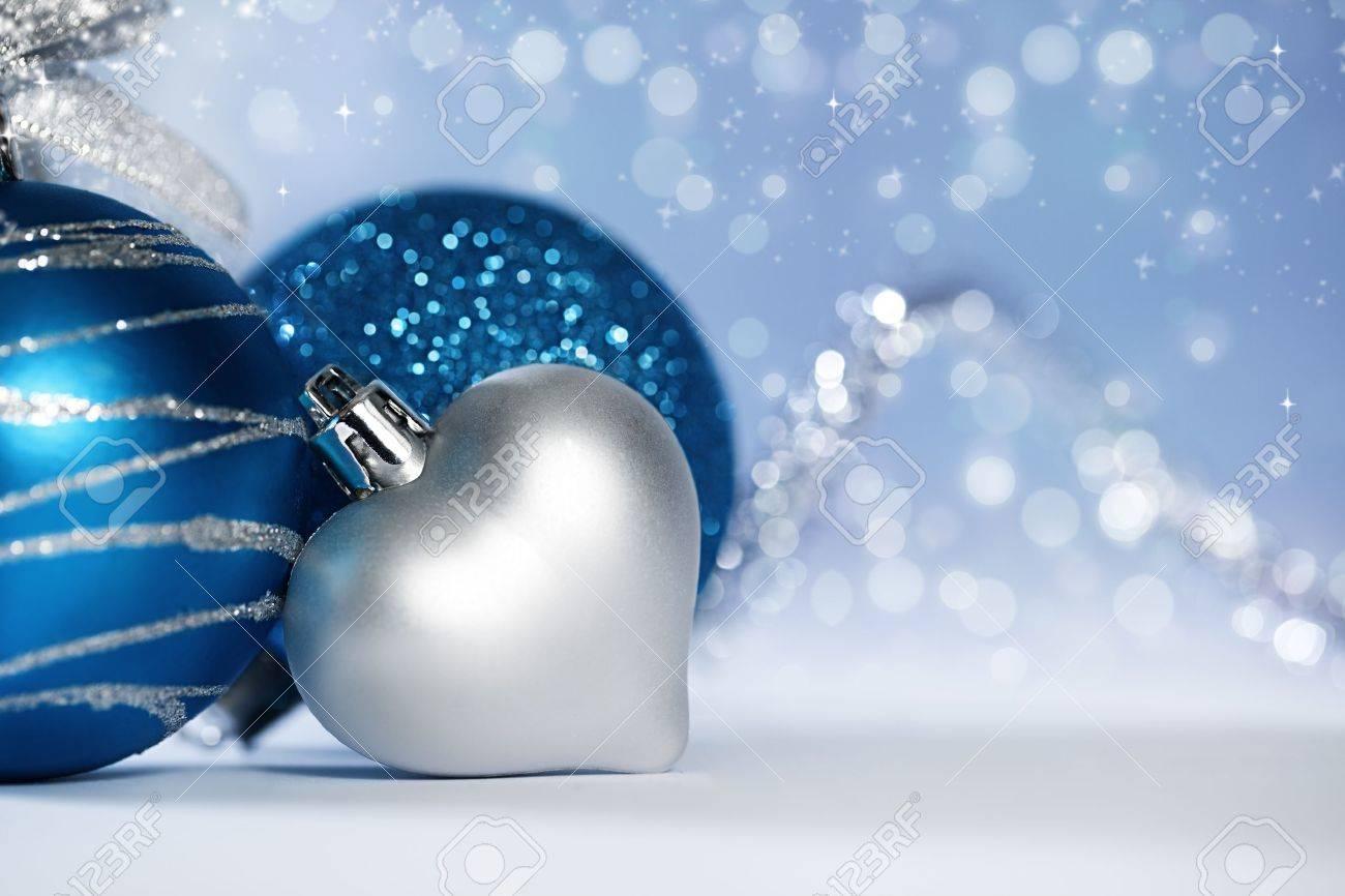 Weihnachten Hintergrund Mit Verschiedenen Ornamenten Und Licht ...