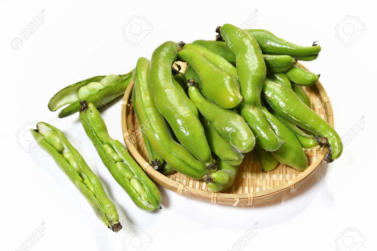 Harvested broad beans - 168229479