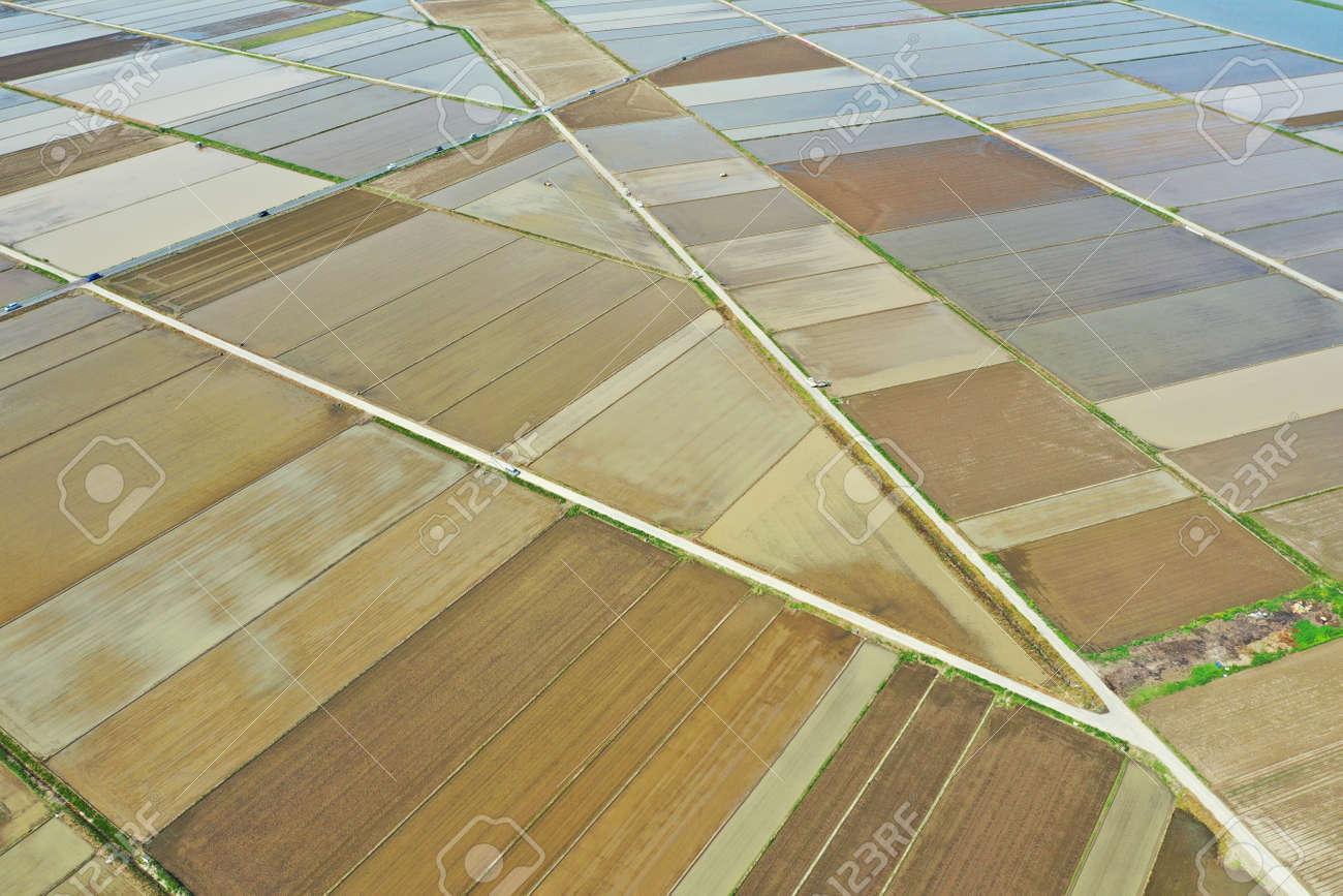 Rural scenery before rice planting - 169410082