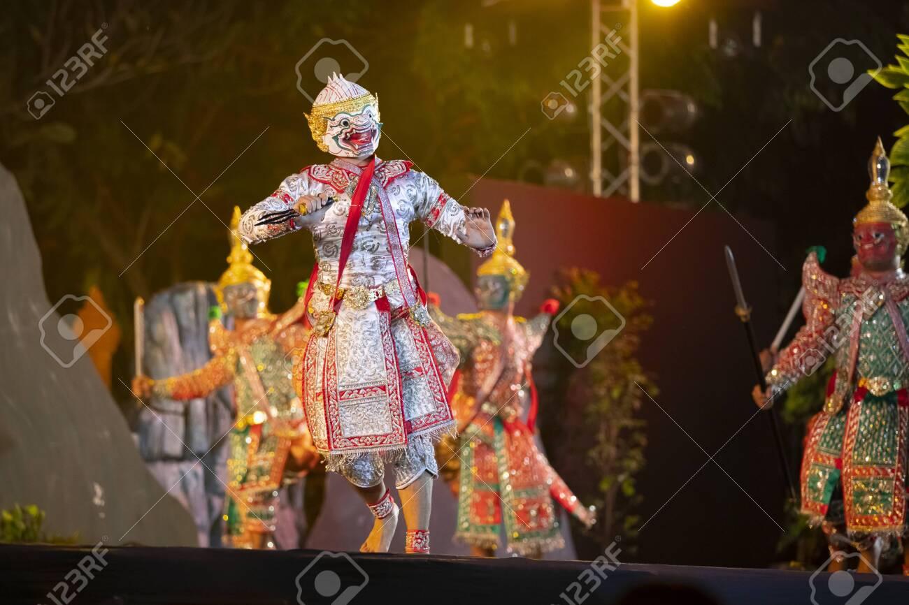 CHIANG MAI, THAILAND - JAN 26, 2019 : Thailand Dancing in masked