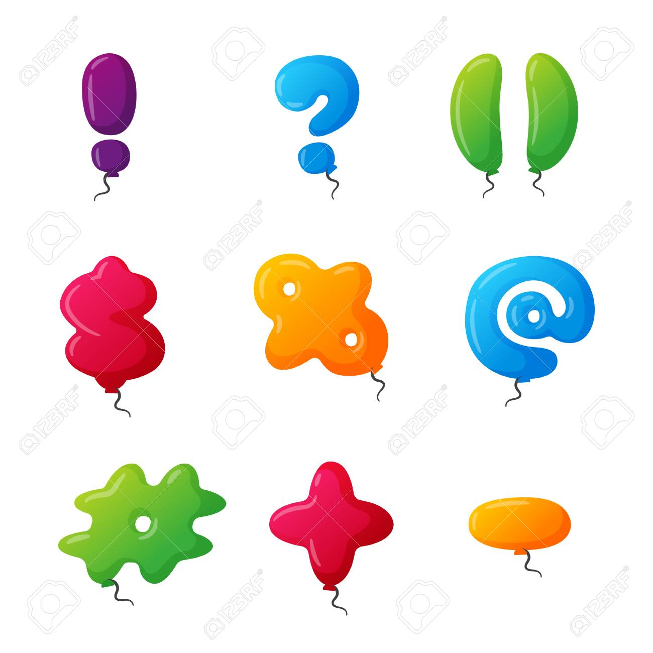 English balloon colorful mark on white background holidays and english balloon colorful mark on white background holidays and education ozone type sign greeting m4hsunfo