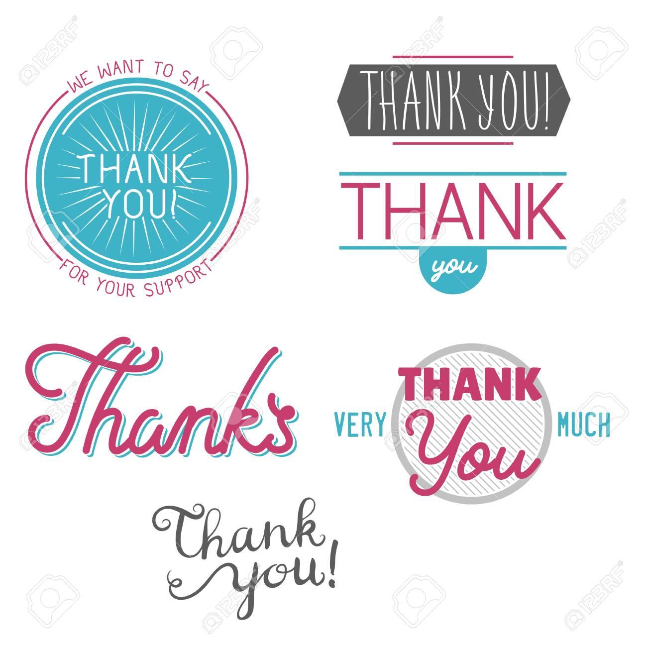 Merci Remerciement Sentiment émotions Texte Inscription Vecteur Insigne Merci Phrases Devis