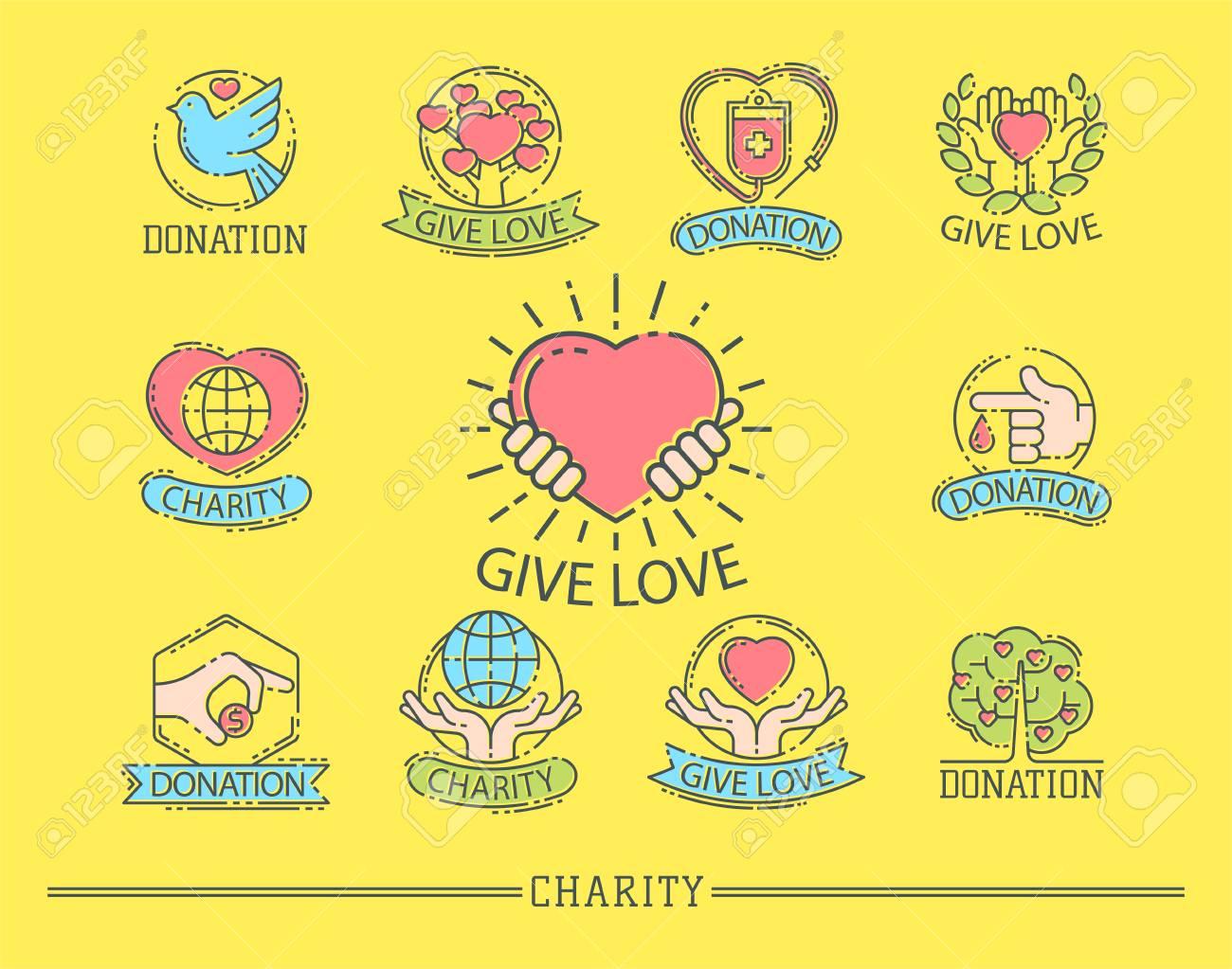 donate money set log ooutline icons help icon donation contribution