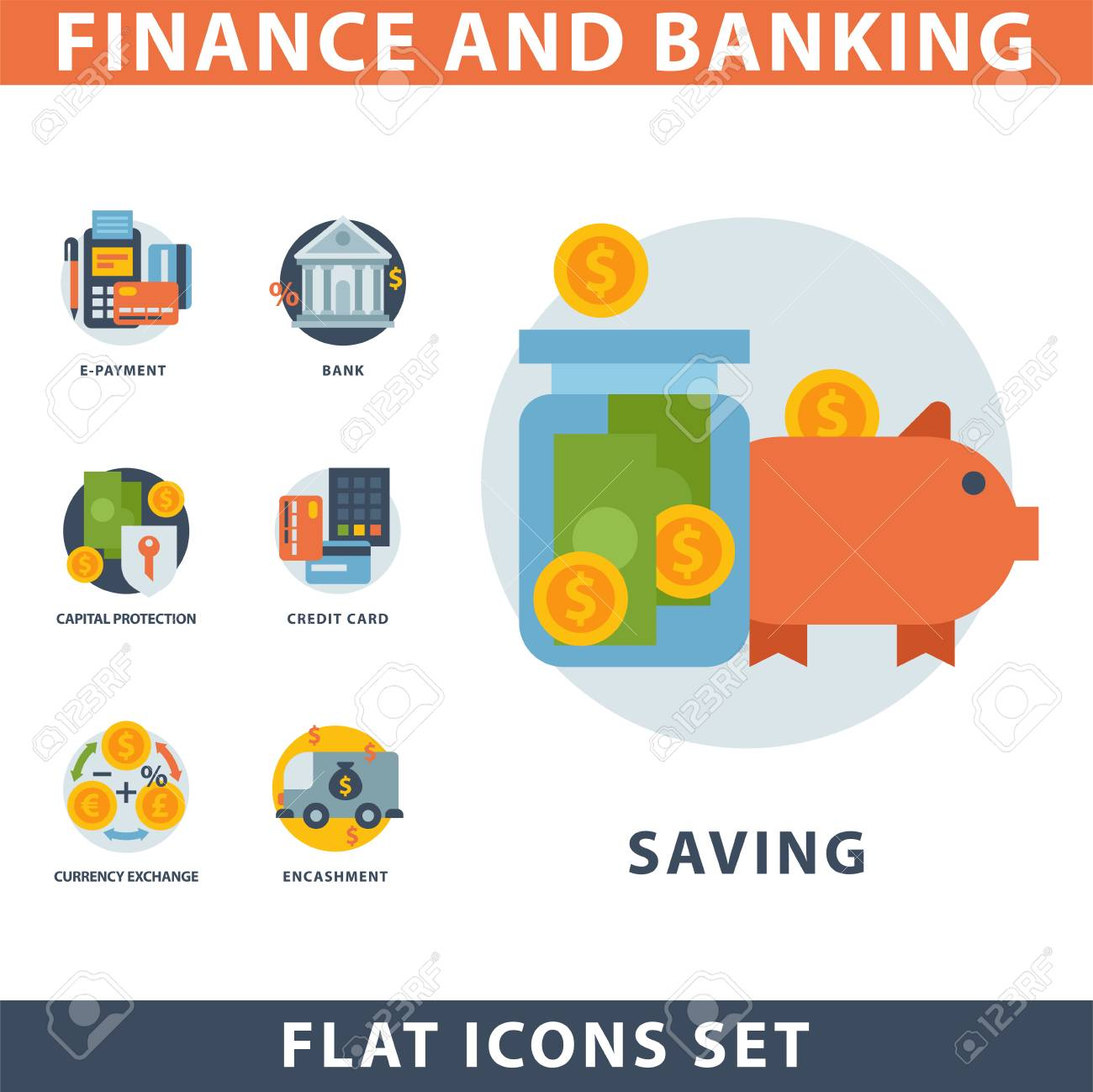 Money Finanse Banking Safety Icons Business Currency Card Financial