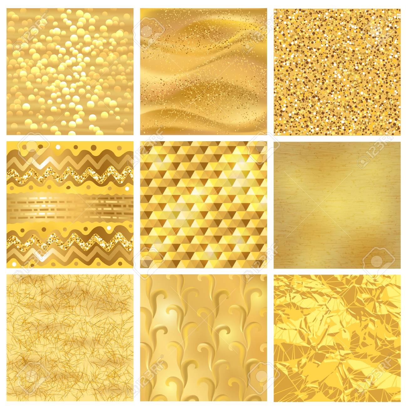 Golden Background Or Gold Texture Vector Pattern For Luxury Textured Wallpaper With Textural Goldleaf Backdrop Yellow