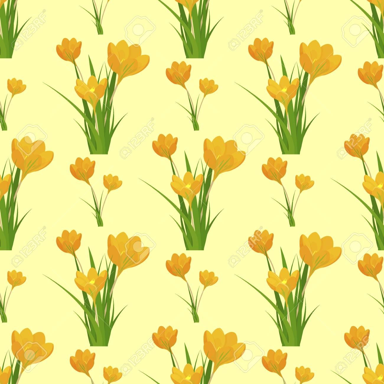 Beautiful flower tulip seamless pattern background design decoration..