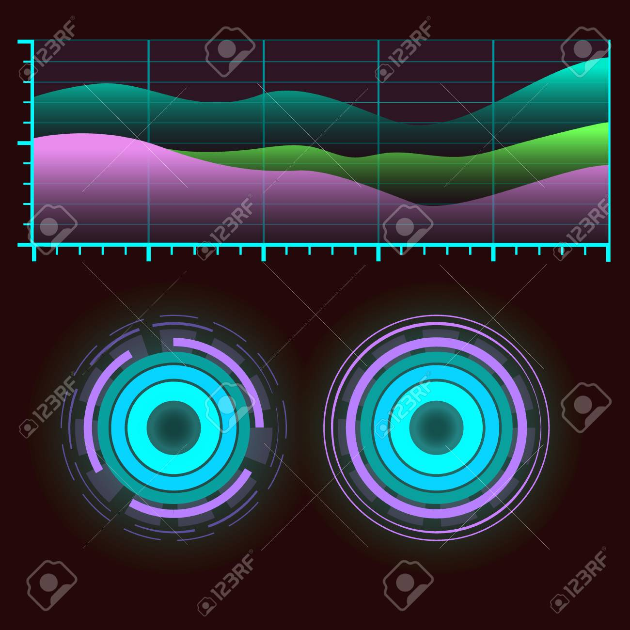 Futuristic interface space motion graphic infographic game and