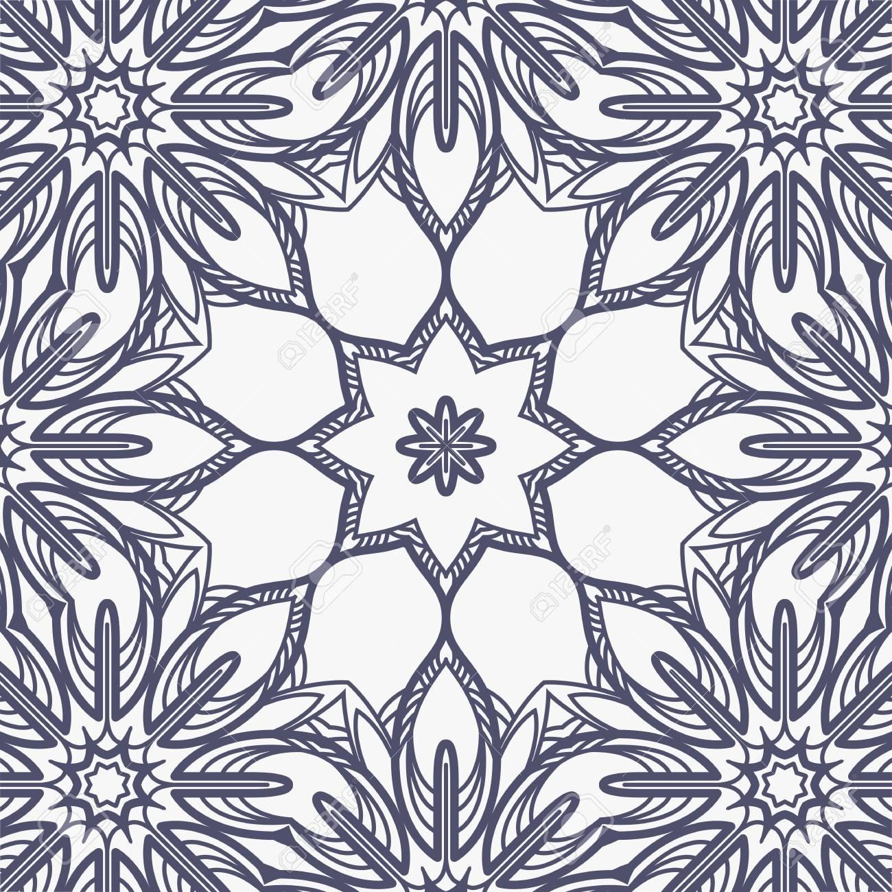 Bordado Vector Sin Patrón Imitar O Encaje Floral Ilustraciones ...