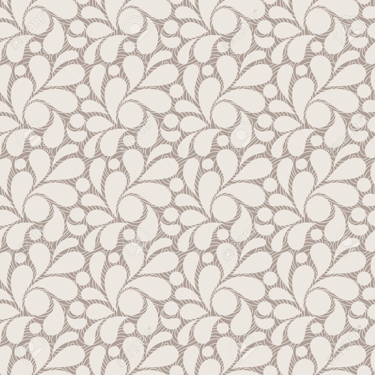 Vector seamless pattern of stylized leaves and petals Stock Vector - 42410865