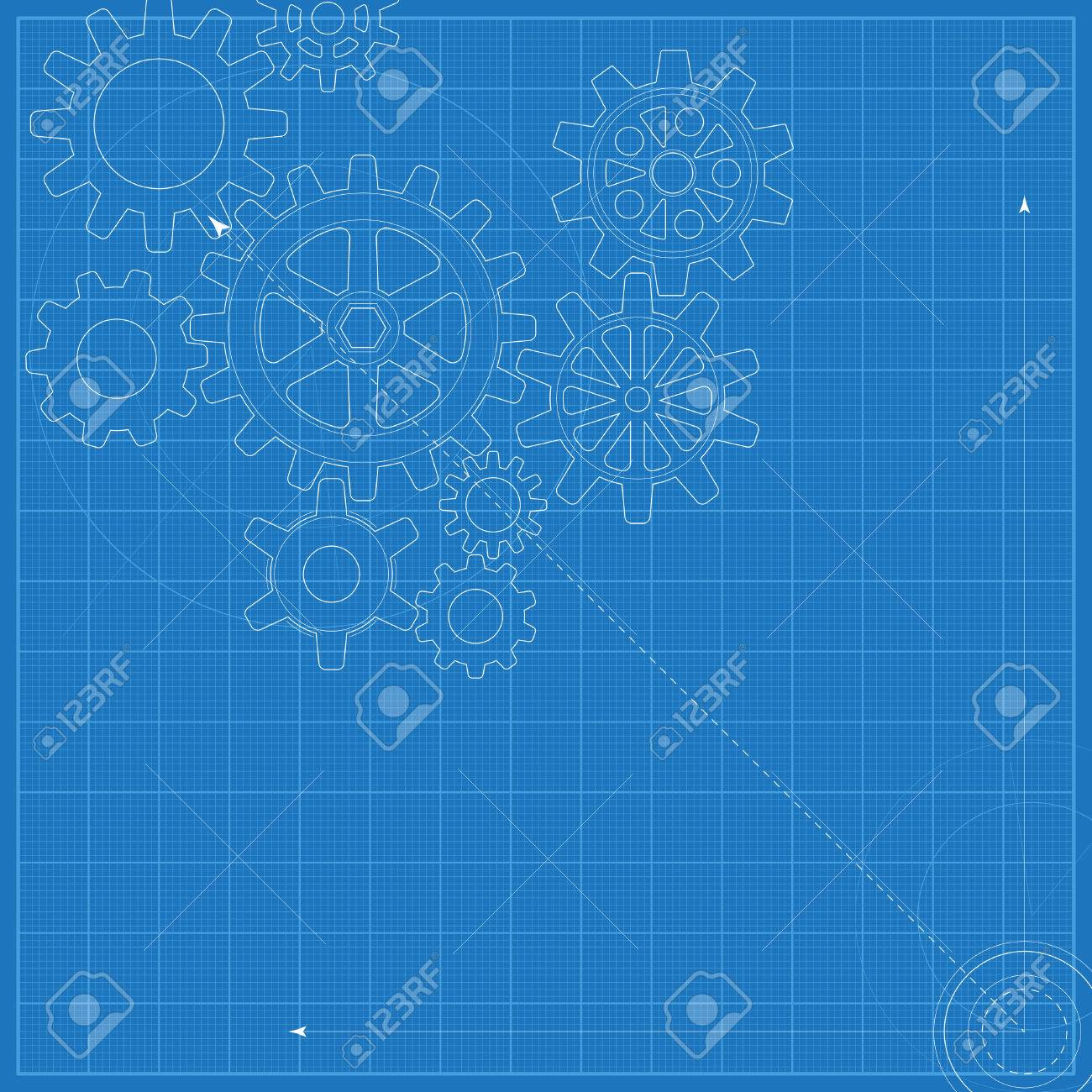 Decorative blueprint with schematic gears on graph paper stock photo decorative blueprint with schematic gears on graph paper stock photo 45327806 malvernweather Choice Image