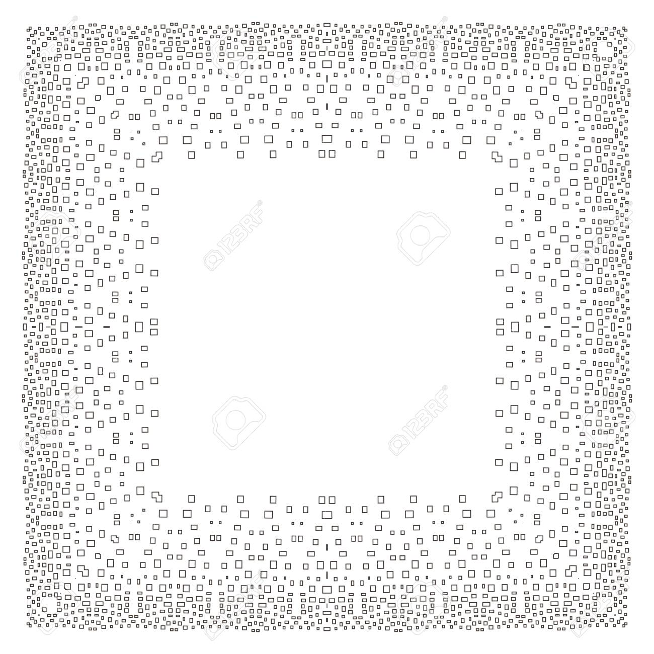 Intricate Digital Frame With Small Rectangles. Stock Photo, Picture ...