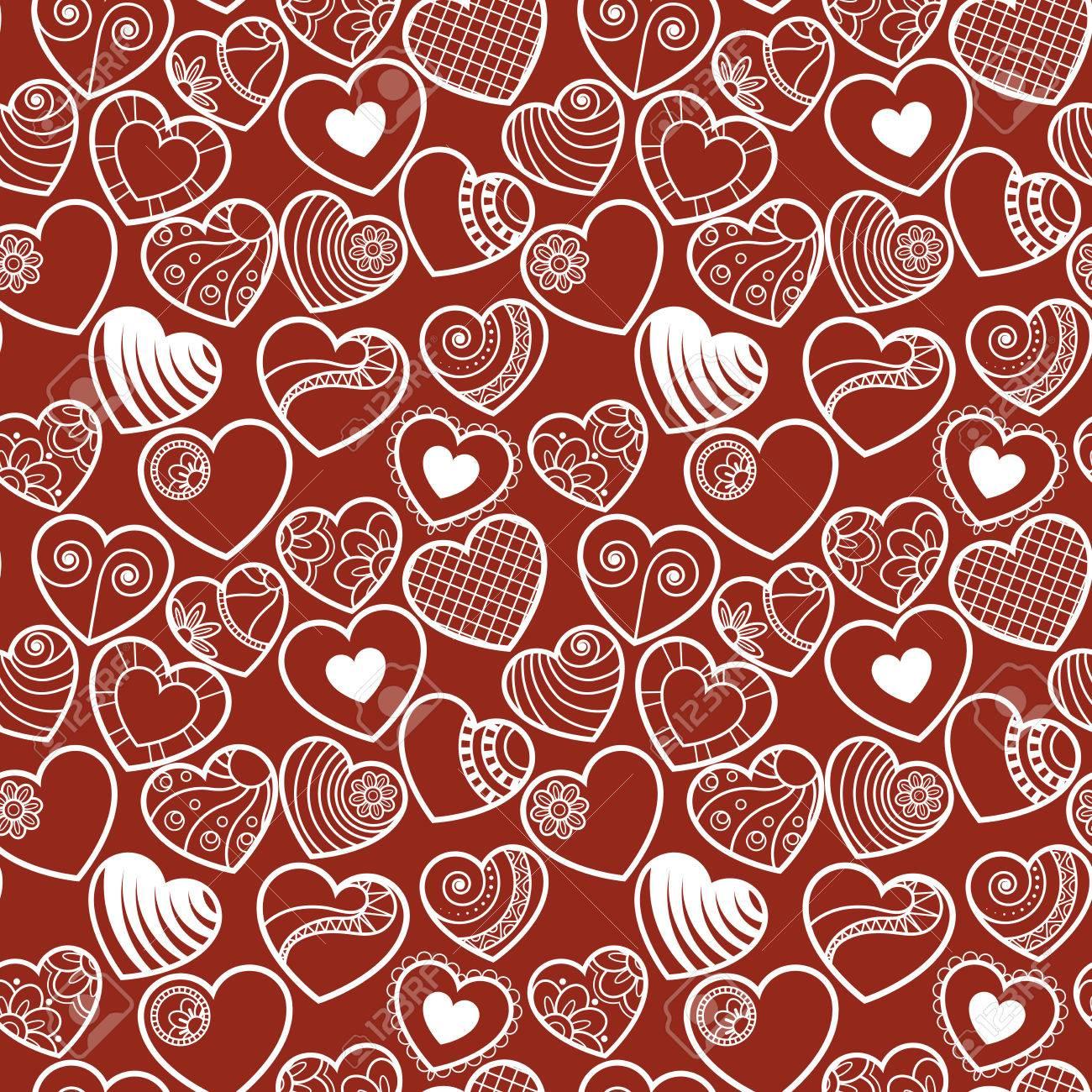 Diversión De Fondo Sin Fisuras Corazón Del Amor. Grande Para ...