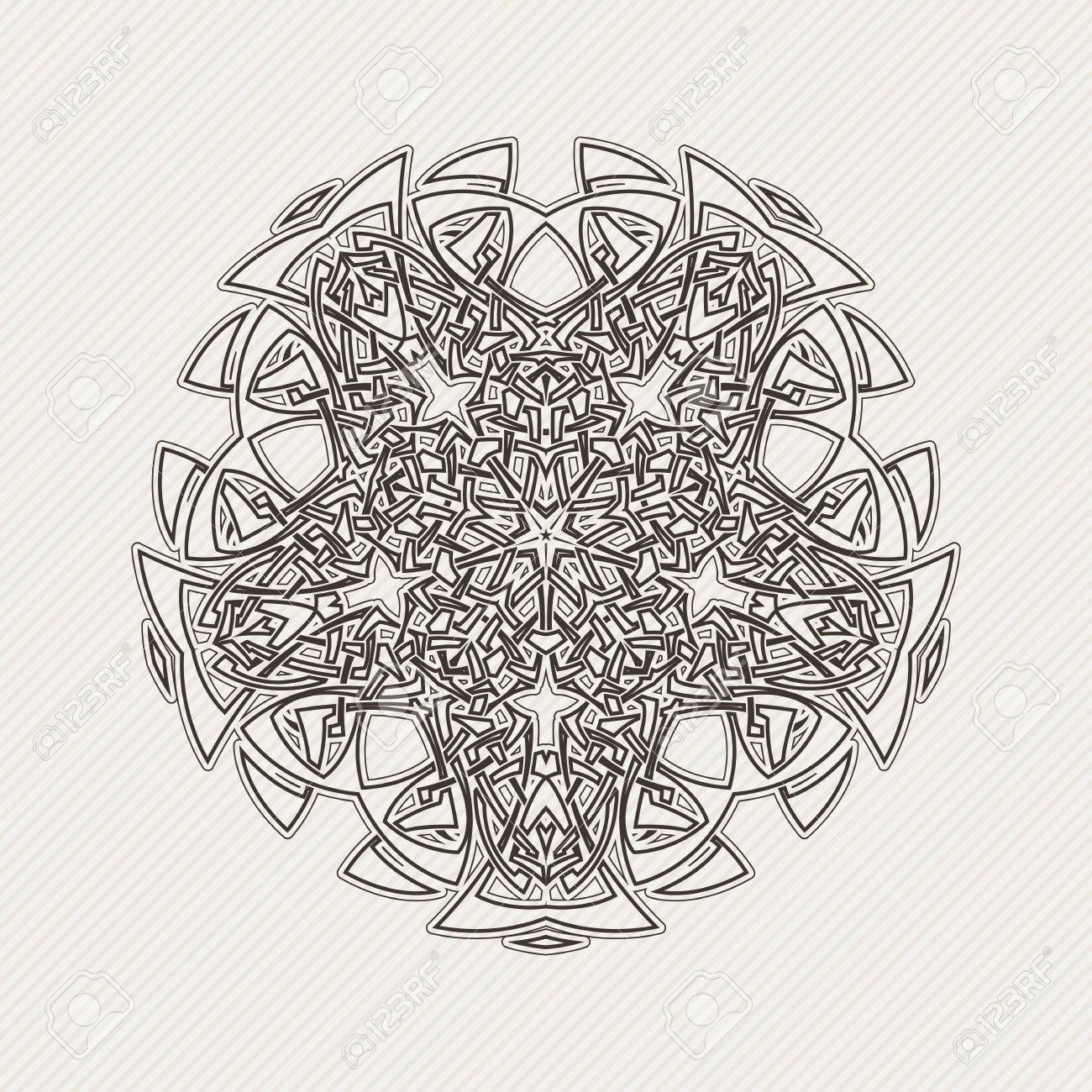 Gothic Lace Tattoo Celtic Weave With Sharp Corners The Circular Pattern