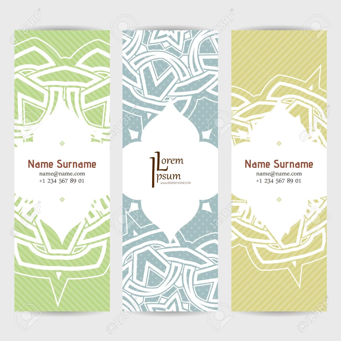 set of vector design templates brochures in random colorful