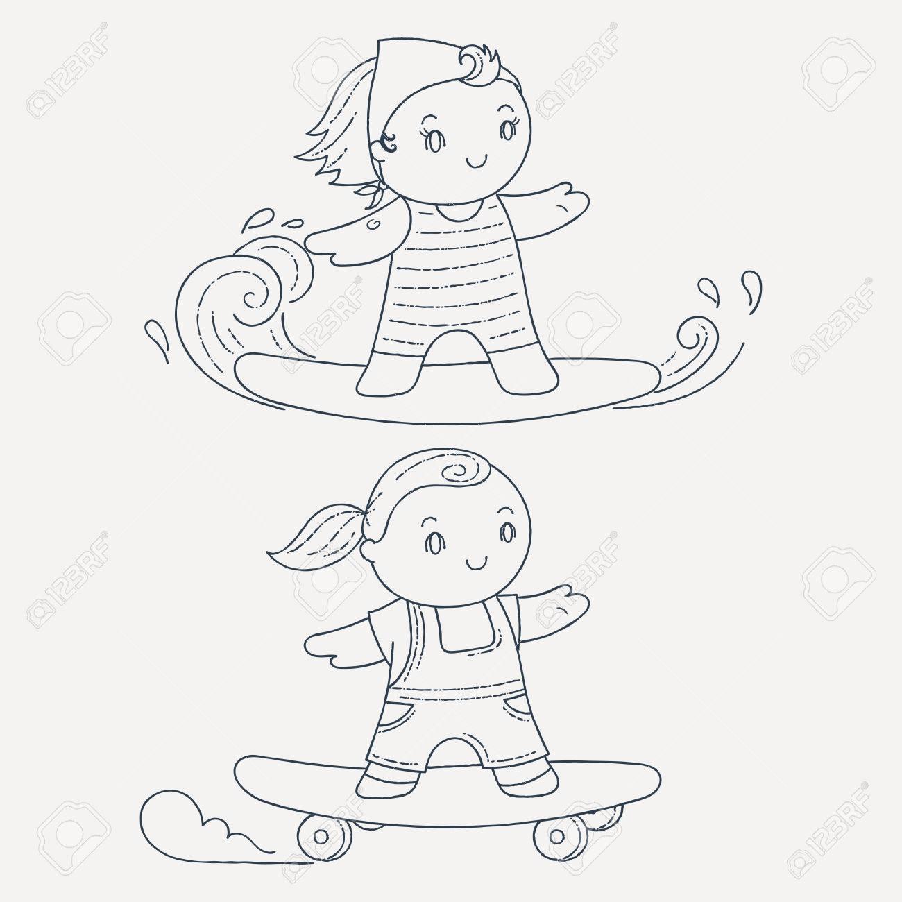 Hermosa Niños De Vagón De Boxeo Para Colorear Elaboración - Dibujos ...
