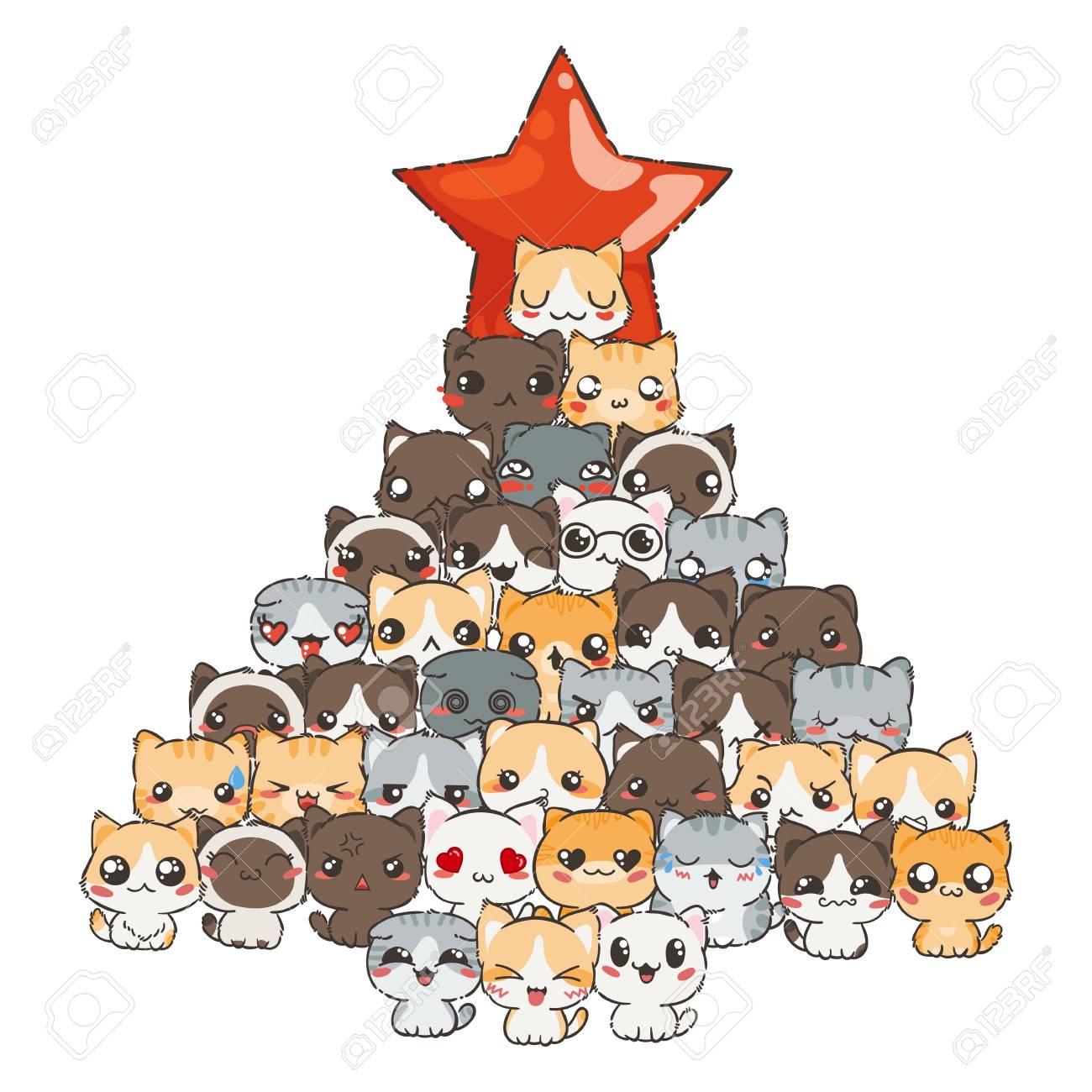 a4a1f91a279ff Patrón De Vector Para Impresión. Ilustración Con Gatos Y Perros Para El  Diseño De Carteles