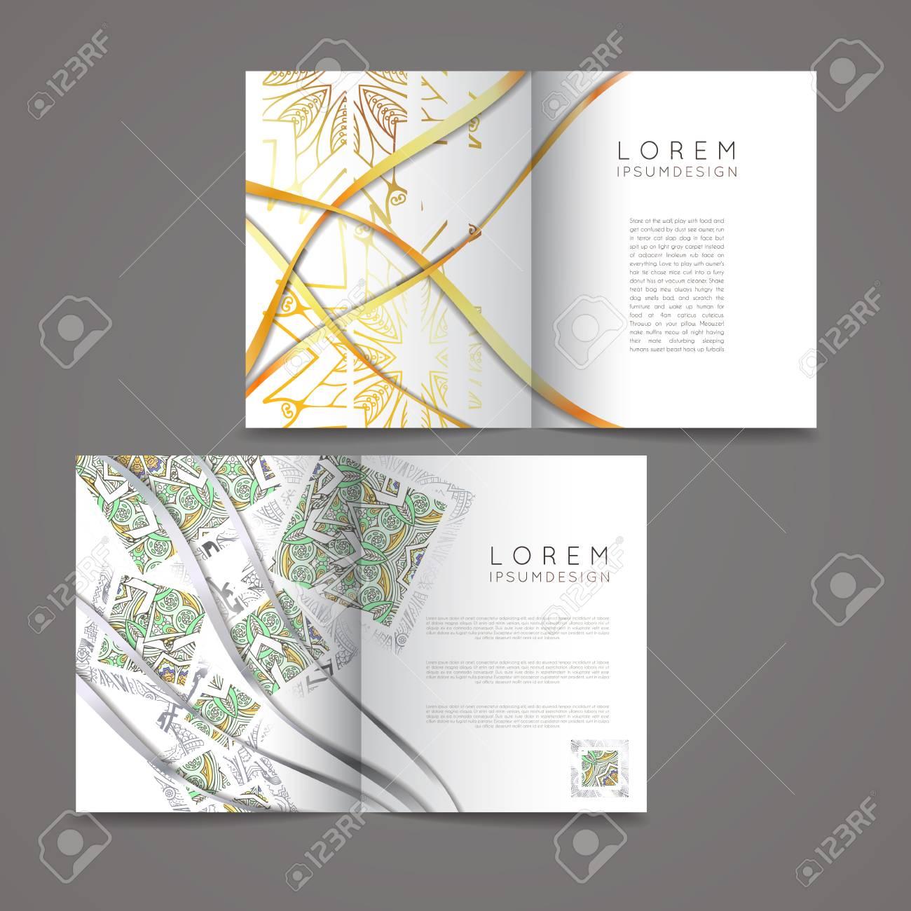 Collection De Design Avec Des Symboles Mandala Jeu Cartes