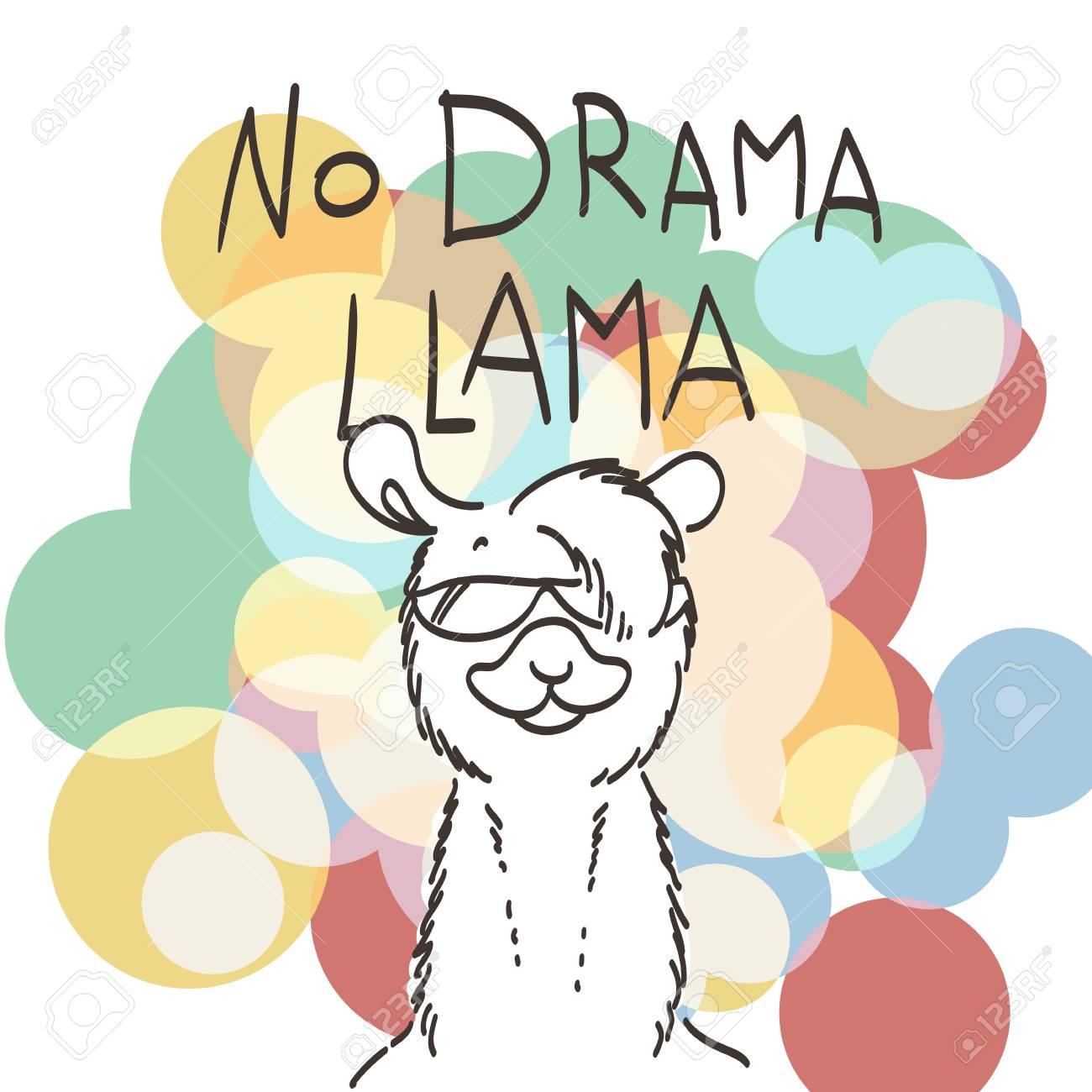 cute card with cartoon llama. motivational and inspirational