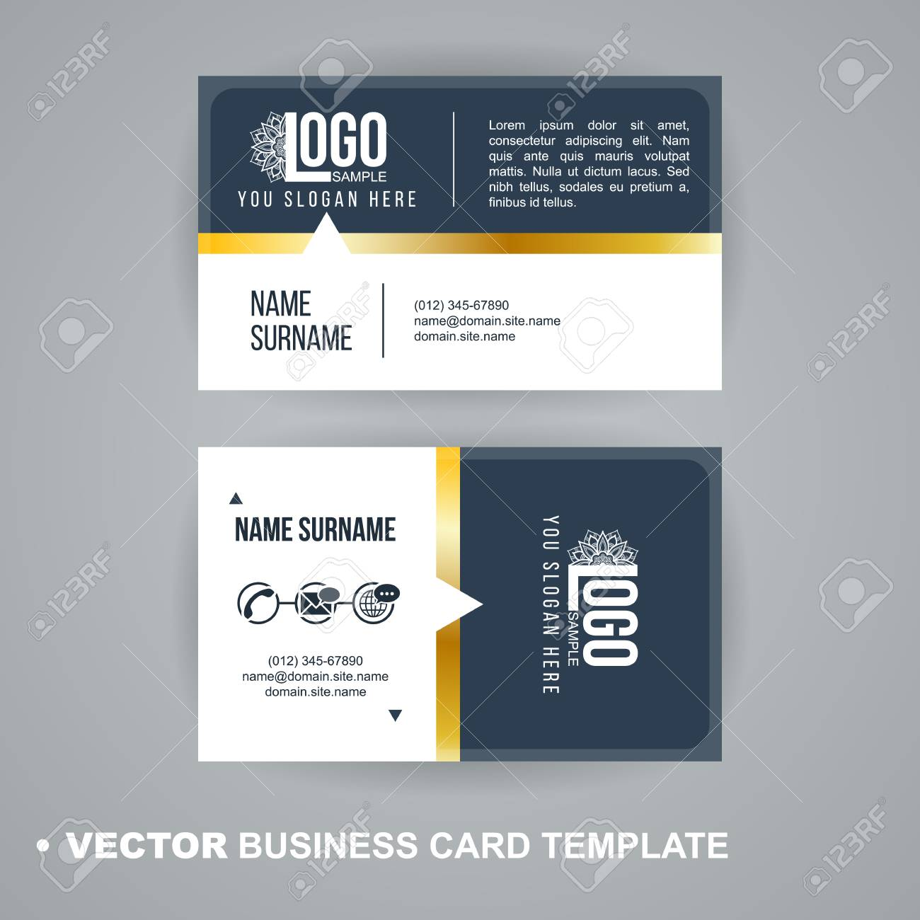 vecrot business card template modern abstract luxury style for