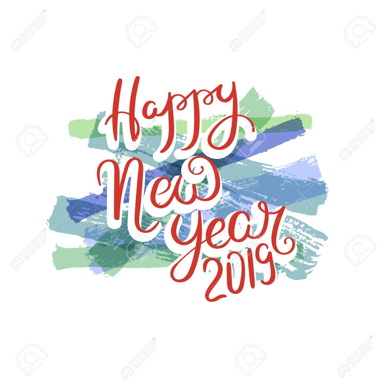 happy new year hand drawn motivation quote creative vector