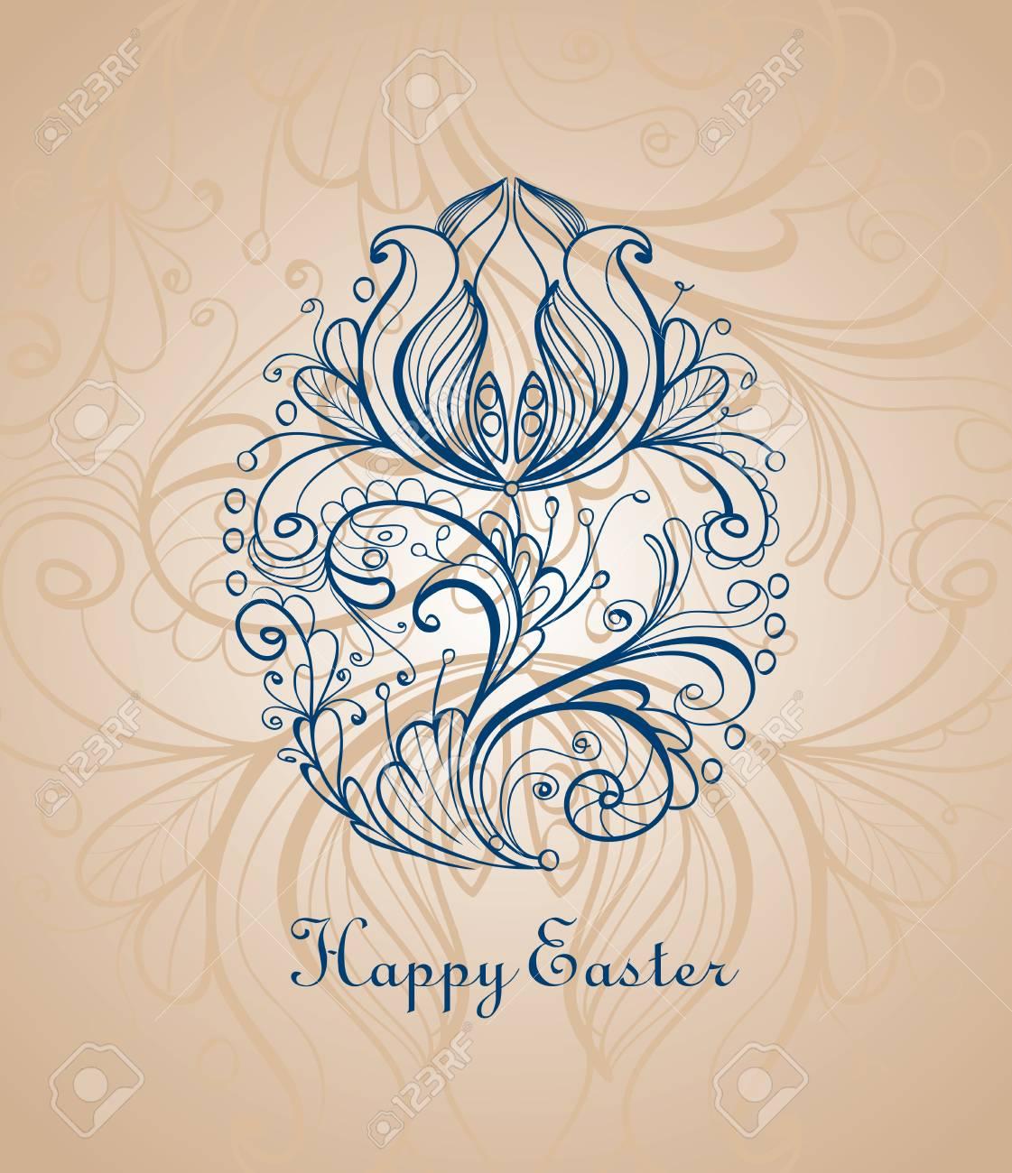 Ornamental easter egg Stock Vector - 19026877