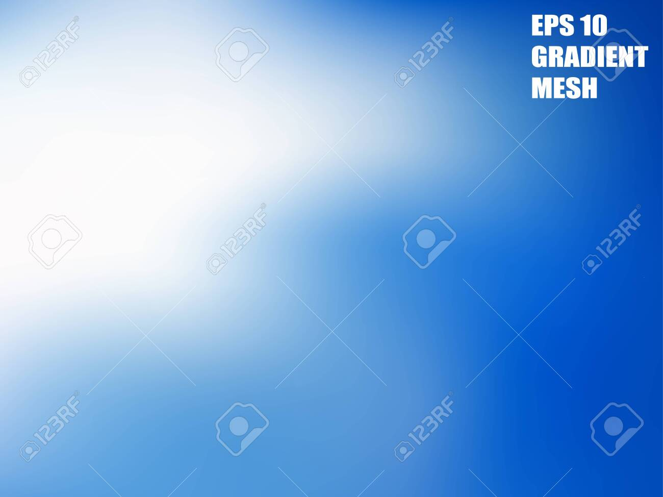 Background gradient blurry mesh abstract in white light and blue sky colors. EPS10. Free editable. - 120741963