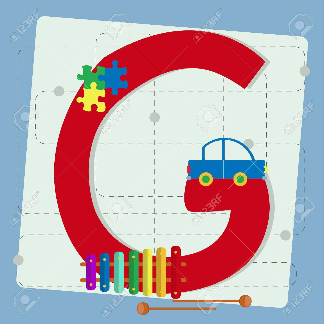 G Alphabet De Pour Avec Enfants Lettre JouetPuzzle Stylisé XylophoneInstrumentVoiture I6vbfyY7g