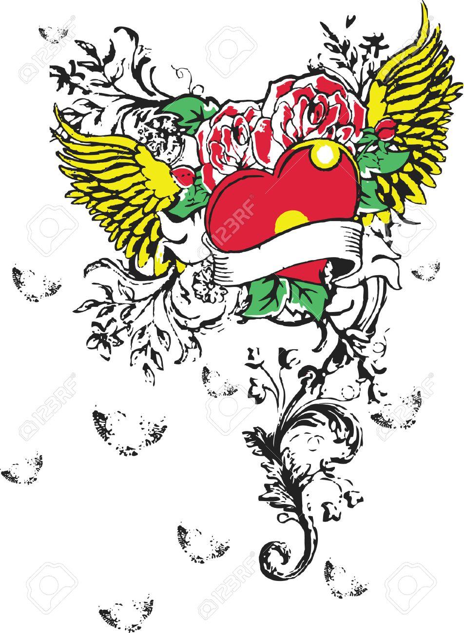 Gothic Heart Tattoos Gothic heart tattoo (graffiti)