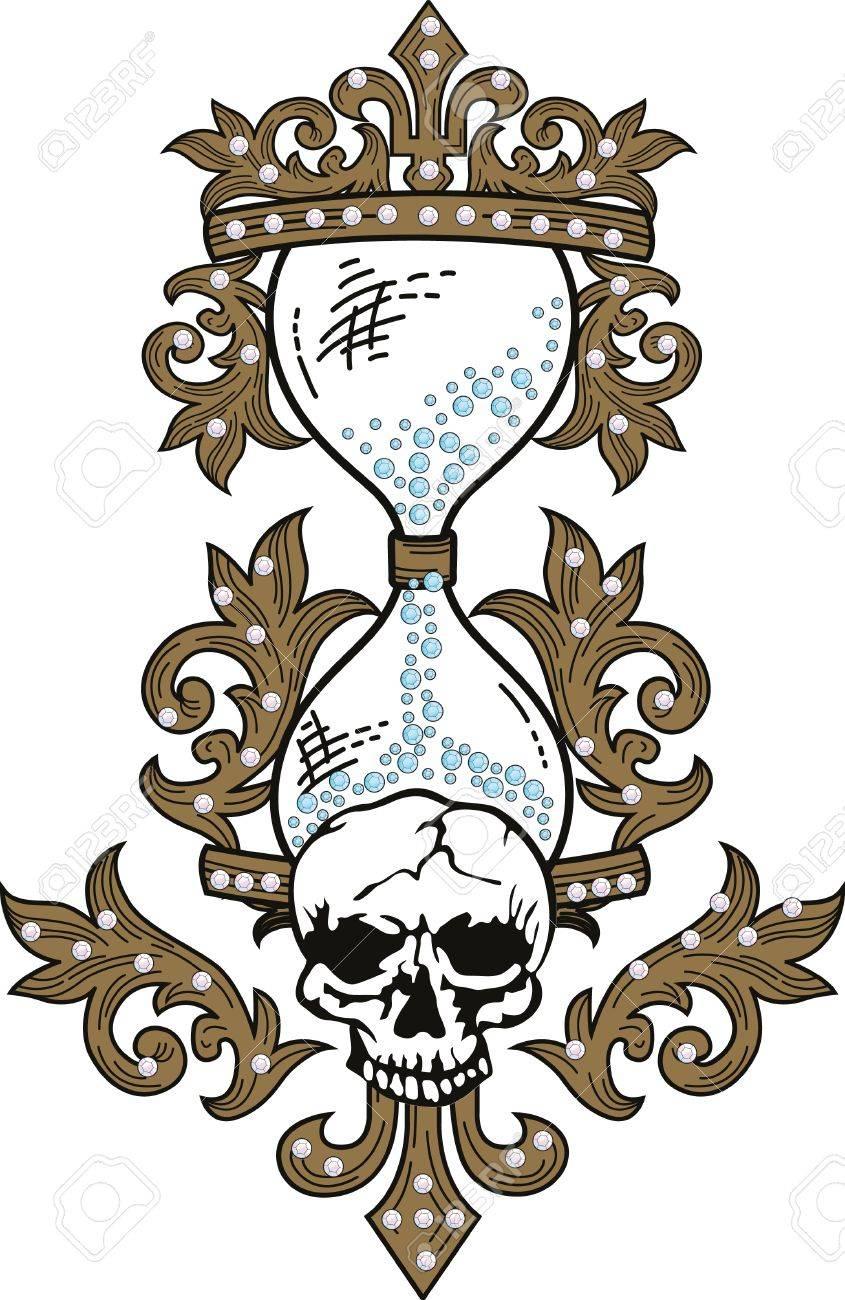 Skull rock grunge texture Stock Vector - 4835659