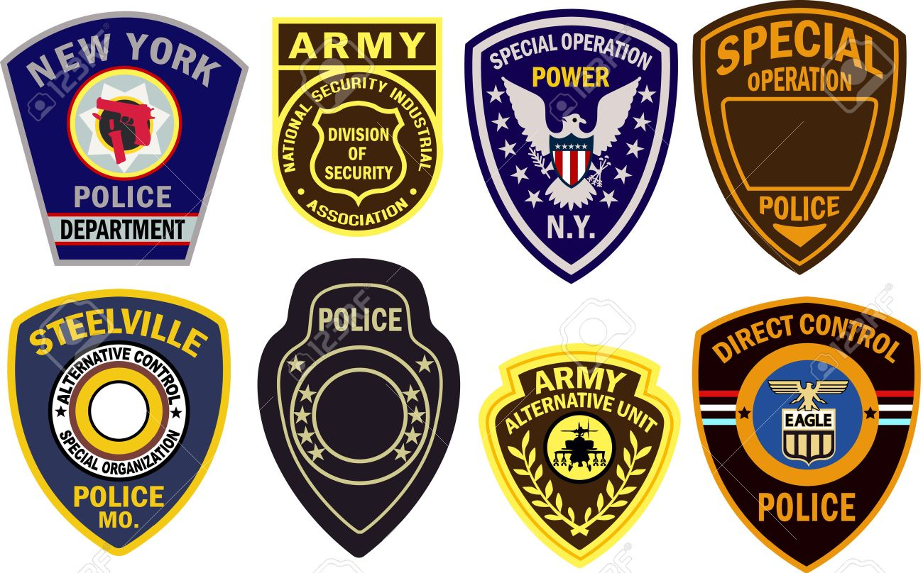 8 392 police badge cliparts stock vector and royalty free police