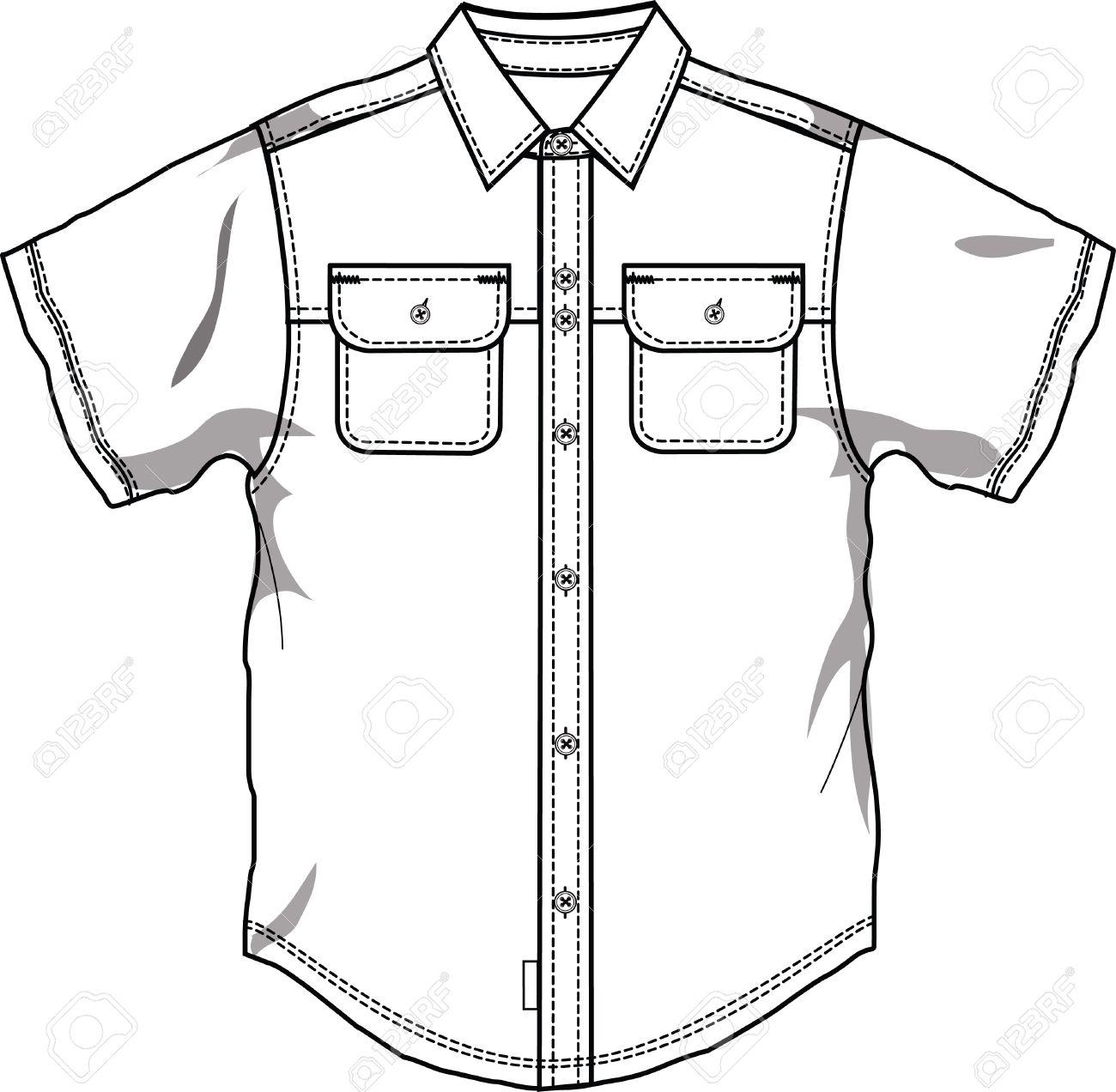 Men button down shirt Stock Vector - 5182856