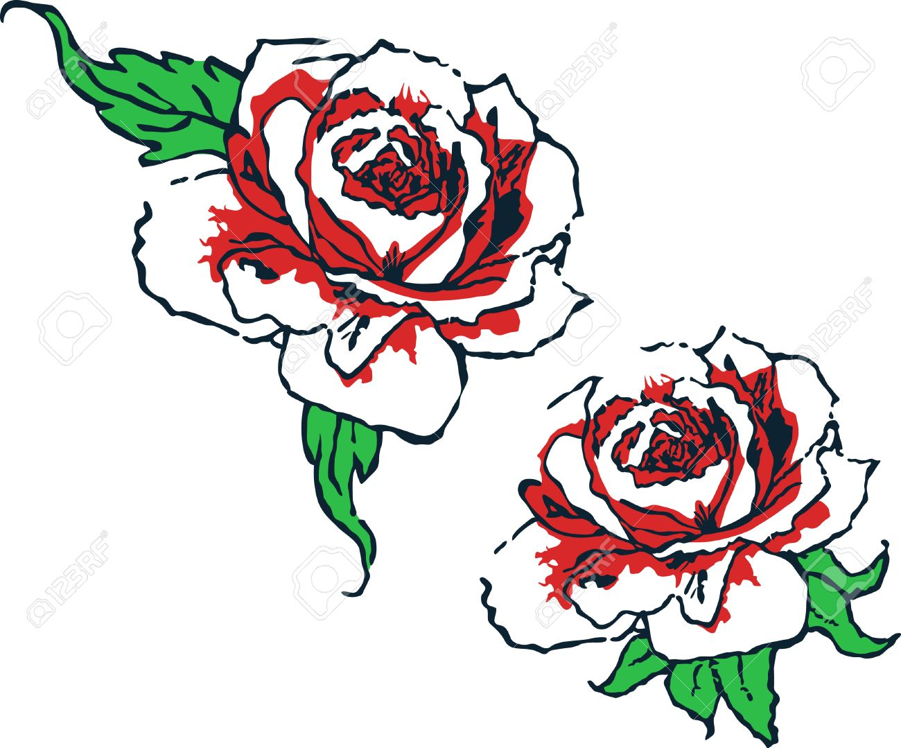 Fancy Rose Tribal Design Royalty Free Cliparts Vectors And Stock