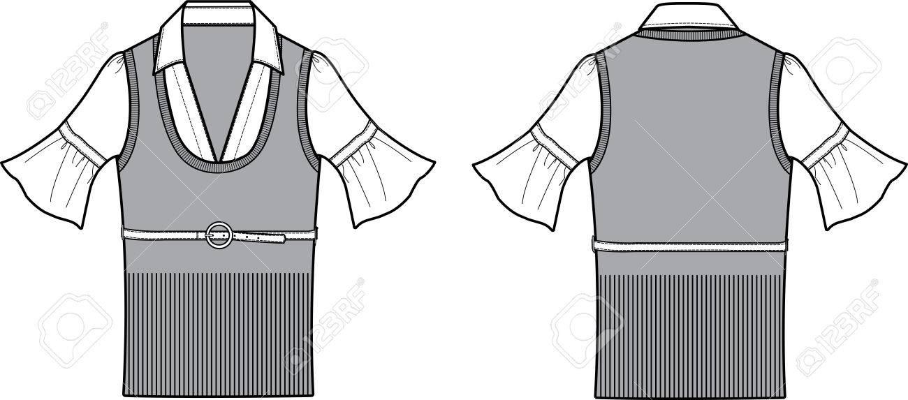 Formal Ladies Blouse Fashion Item Design Stock Vector - 5326538