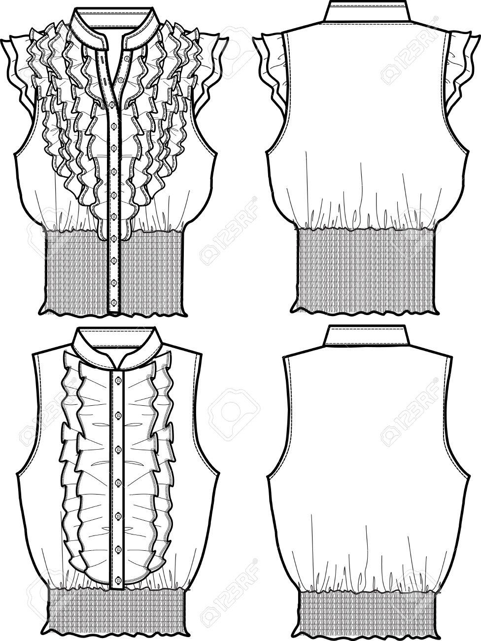 lady chiffon blouse Stock Vector - 5393581