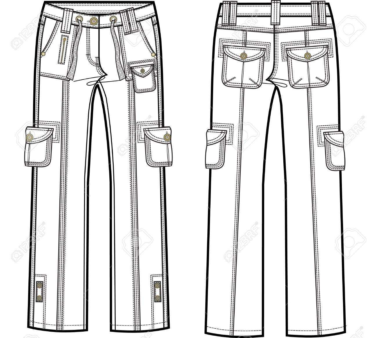 lady cargo pants Stock Vector - 5422173