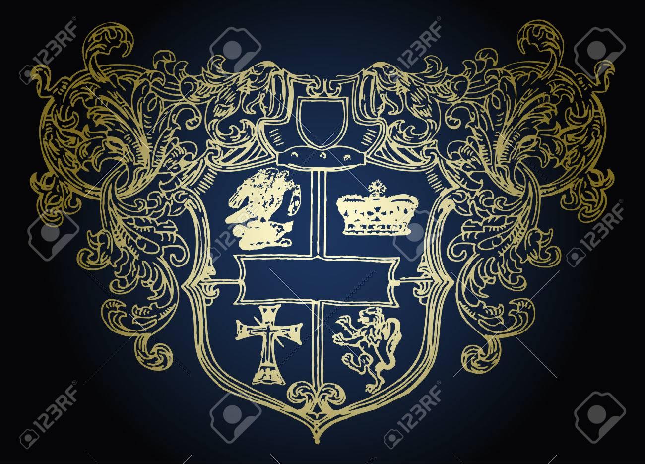 military shield emblem design Stock Vector - 5638863