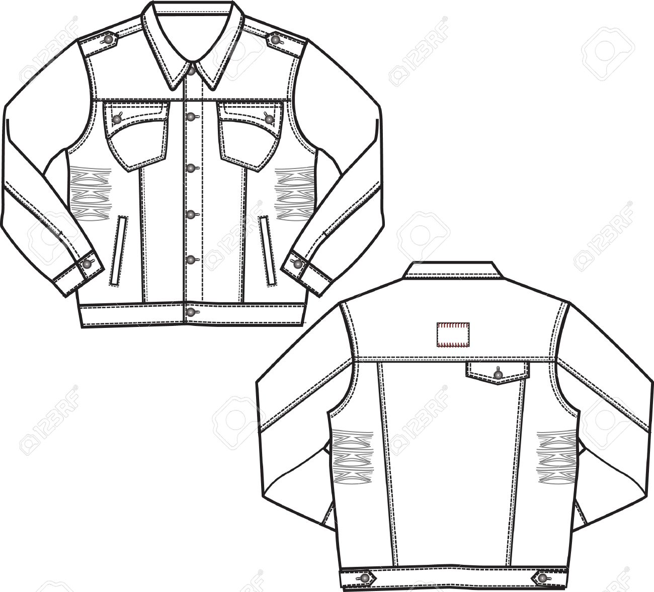 Boy Denim Jacket Royalty Free Cliparts Vectors And Stock