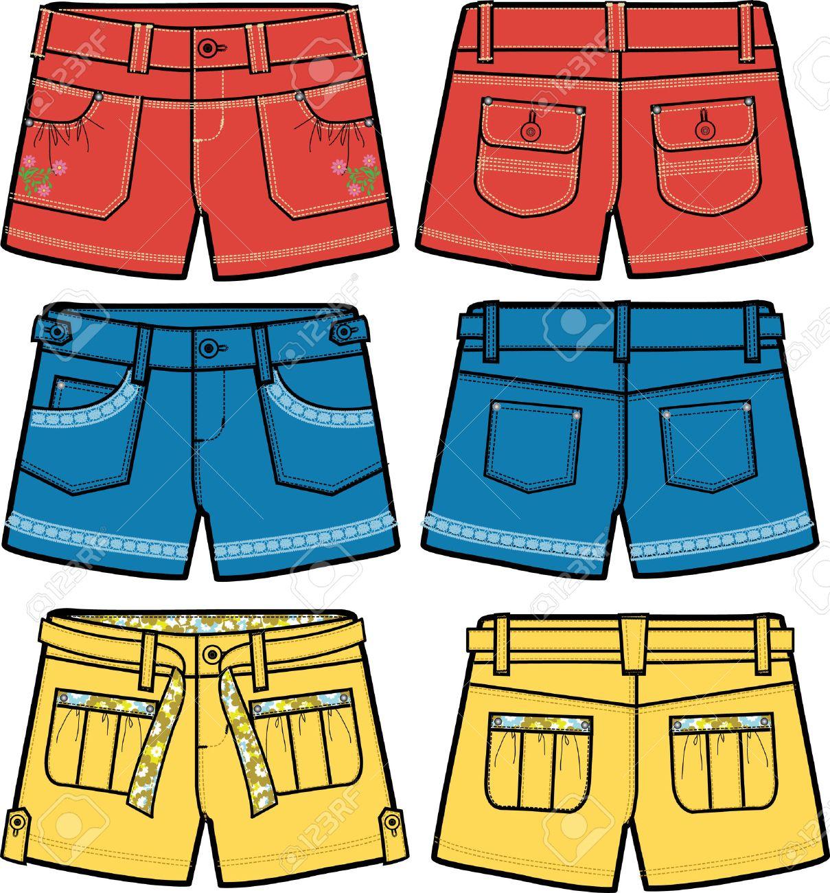 girls fancy hot shorts - 5894757