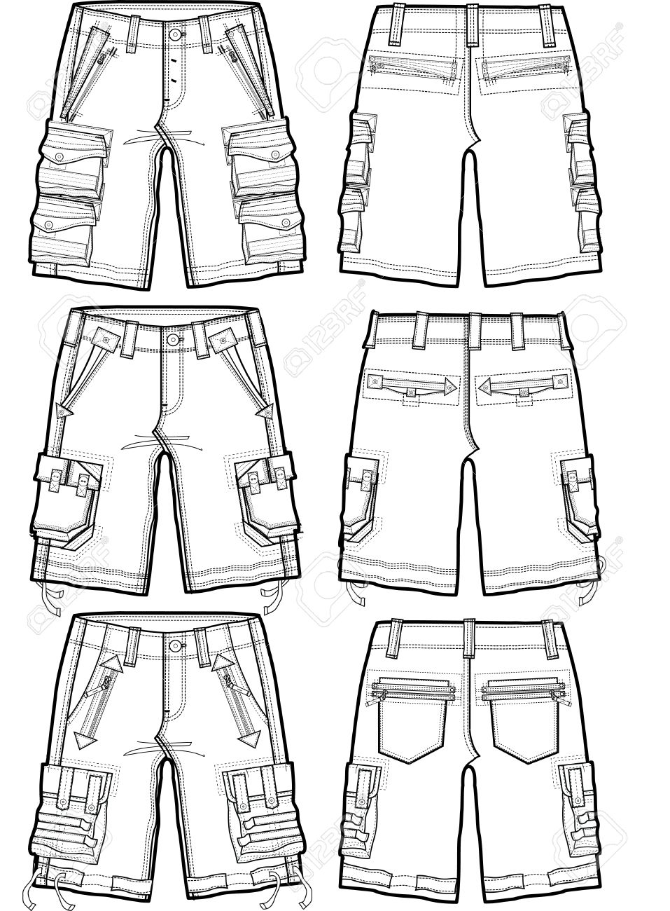men cargo shorts Stock Vector - 6231710