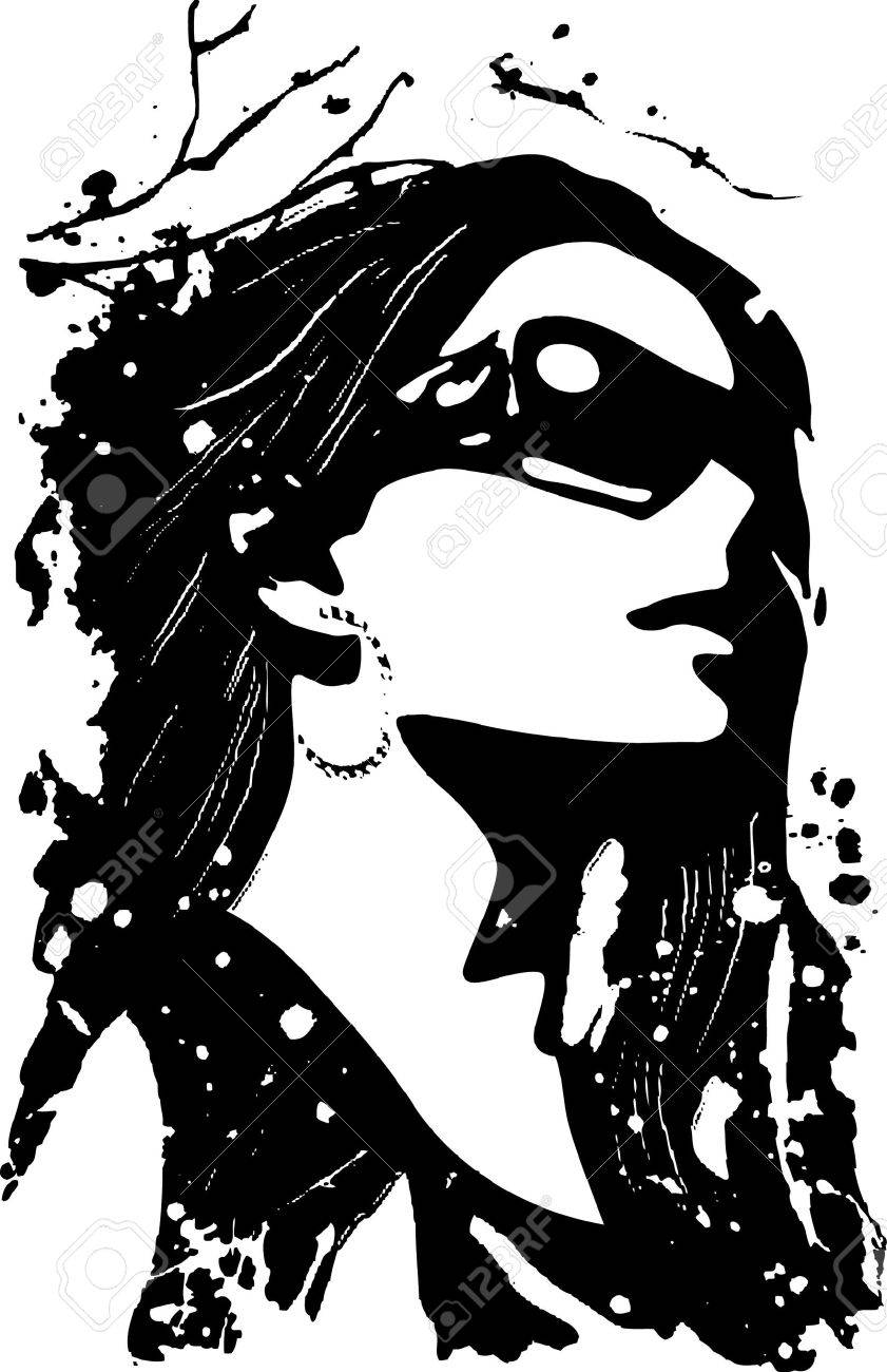 fancy woman poster Stock Vector - 6670313