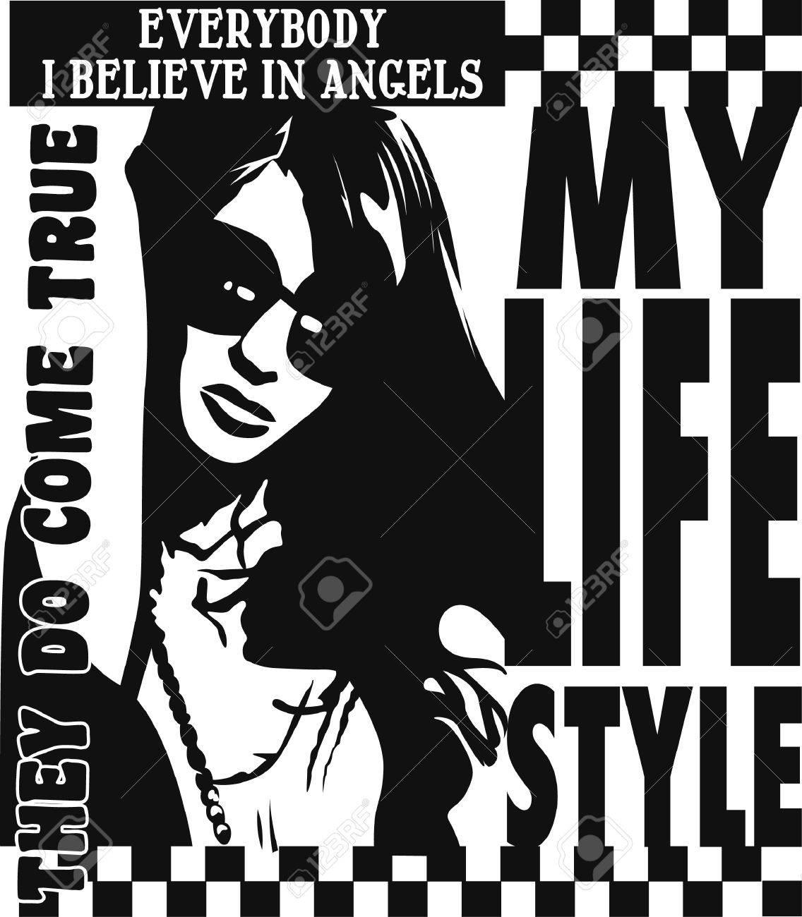 modern fashion woman poster Stock Vector - 6726654
