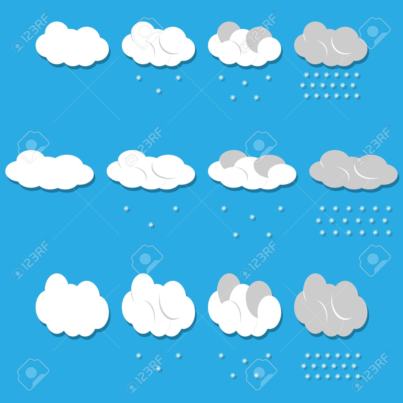 vector clouds and snow vector royalty free cliparts vectors and rh 123rf com snow vector eps snow vector free download