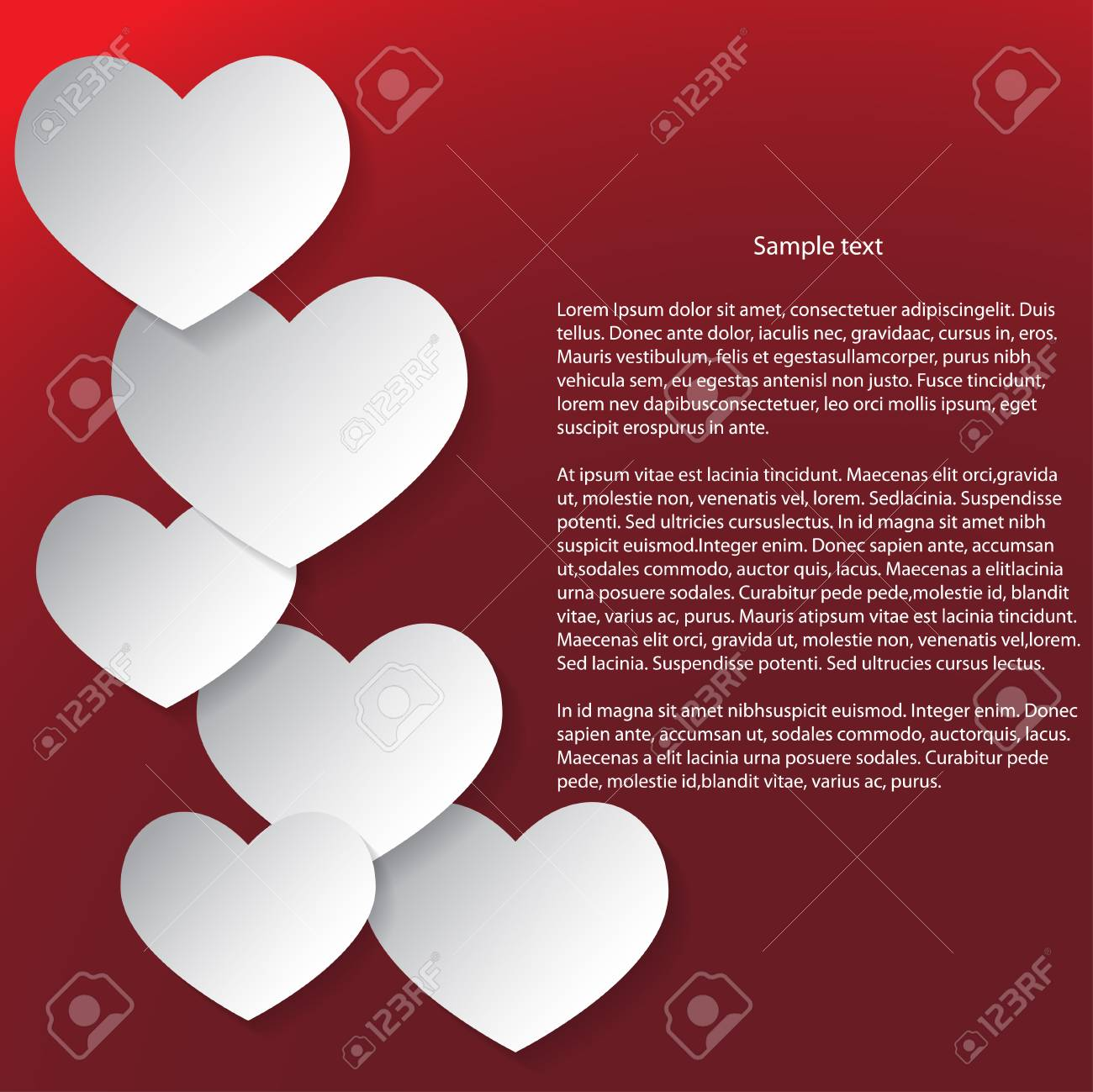 Abstract Valentines Day Background  White and red Stock Vector - 25041171